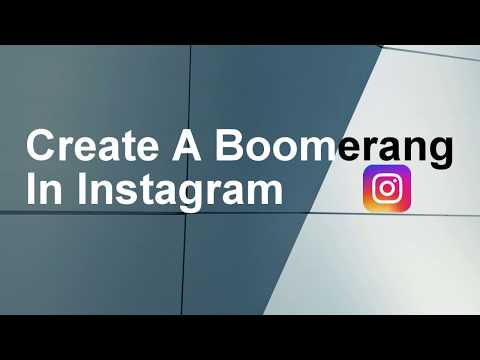 How to create a Boomerang in Instagram