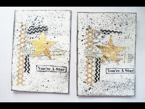 How to make Artist  trading cards / Star Artist Trading card