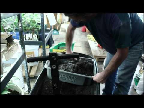Mixing Soil for Transplanting Vegetables