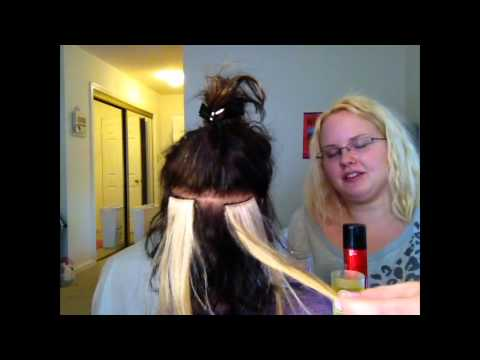 how to apply and remove hair extensions (glue bonds)