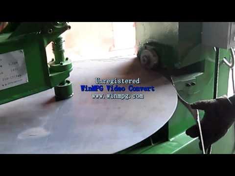 Round steel sheet cutting machine - steel plate circular cutting machine