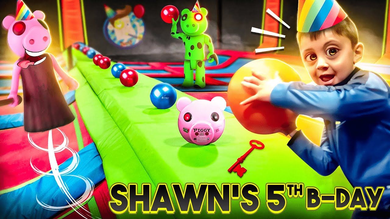 SHAWN'S VERY PIGGY Birthday!!  (FV Family Escape Room Bday Haul Vlog)