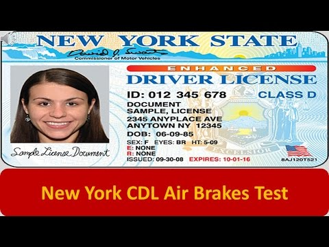 New York CDL Air Brakes Test