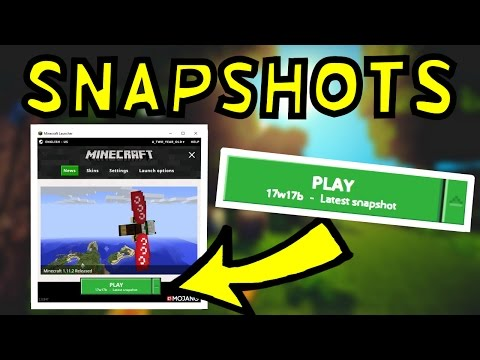 How To Download Minecraft Snapshots! (New Launcher)