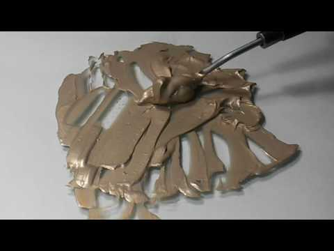 Mixing Paint ASMR: Silver and Gold
