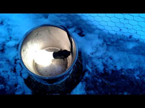 Winterizing the chicken waterer -- keeping the water from freezing in my chicken coop