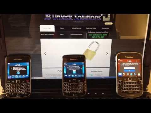 How to Enter Unlock Code BlackBerry phones OS5 OS6 OS7 9900 9700 9650 *JB Unlock
