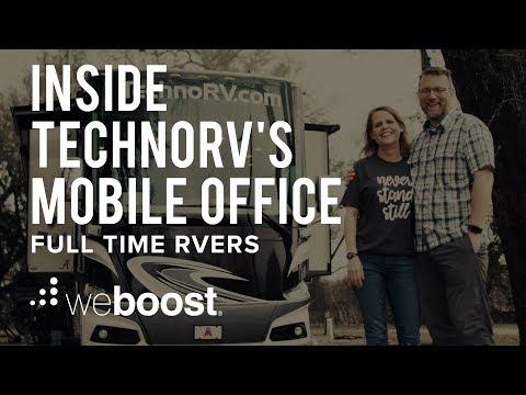 Inside TechnoRV's Mobile Office - Full Time RVers | weBoost