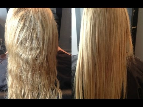 Permanent Hair Straightening at home with two ingredients | Silk & shine