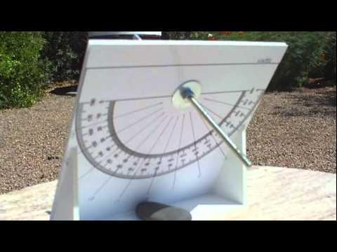 Demonstration of An Equatorial Sundial