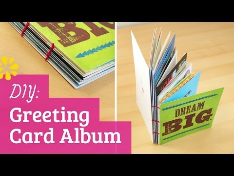 DIY Greeting Card Album - Perfect for Holiday, Birthday or Grad Cards! | Sea Lemon