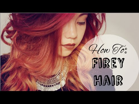 HOW TO: Red Firey Ombré   Bleaching Upkeep  