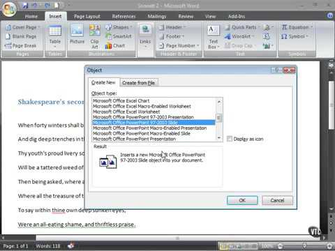 Microsoft Word 2007 ENG TB 10 03 Create a PowerPoint Slide in Word
