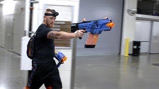 EPIC NERF GUN WAR - WWE Superstars join YouTube stars Twin Toys