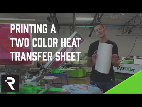 How to Screen Print: Printing Two Color Plastisol Heat Transfer Sheets