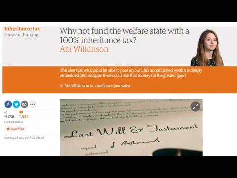Liberals Want a 100% Inheritance Tax (or Death Tax)