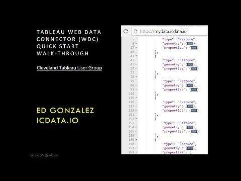 Tableau Web Data Connector - WalkThrough