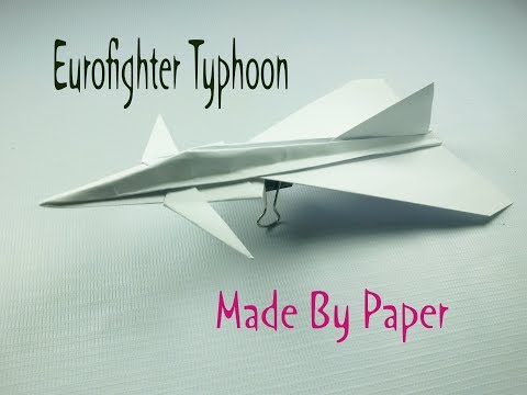 Eurofighter Typhoon how to made with a paper Easy to made simple staple & easy to fold paper plane