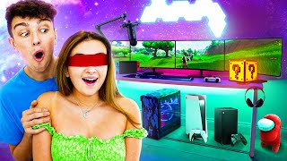 Surprising my Girlfriend with DREAM Gaming Room! *PS5*
