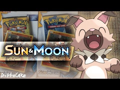 Opening X2 Pokémon Rockruff Sun & Moon Checklane Blister Pack Cards