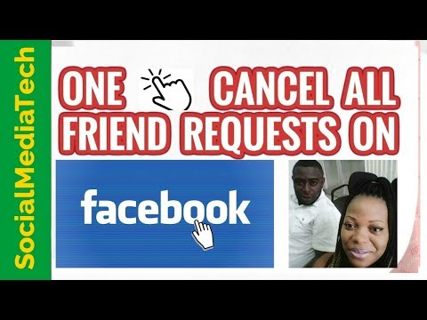 How To Cancel Friend Request On Facebook All At Once| One Click