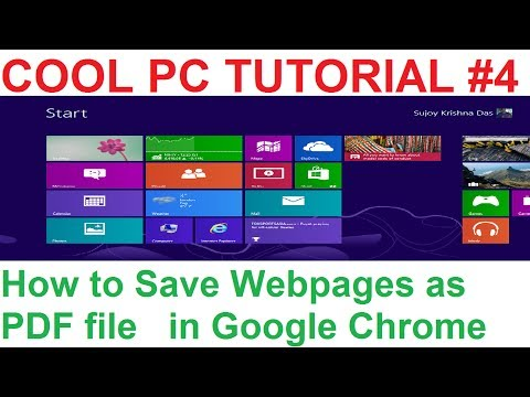 PC4: How to Save Webpages as PDF Files in Google Chrome Browser