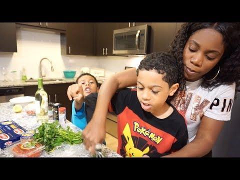 Creole Shrimp Saute | Teaching My Kids How To Cook | Valencia's Life