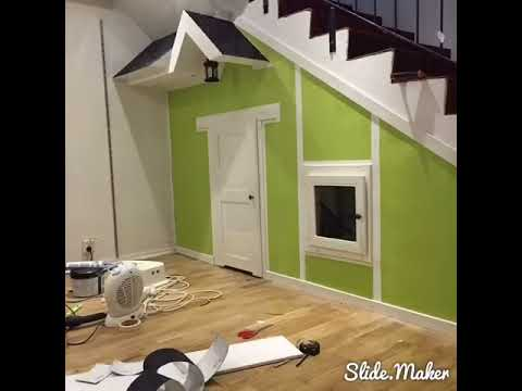 DIY Toy house under stairs