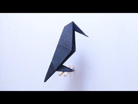 How to make: Origami Raven / Origami Crow
