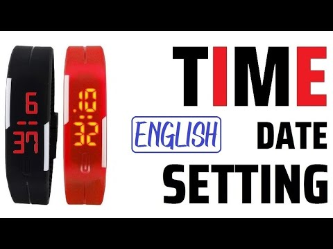 Pappi Led Band Watch - Time & Date Settings