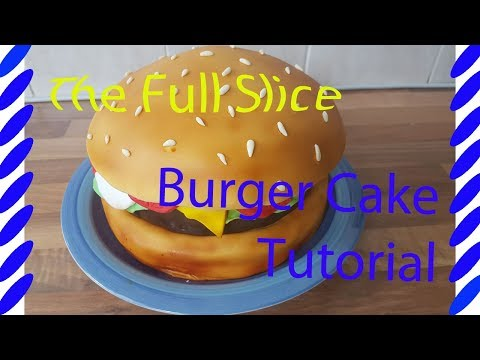 how to make a burger cake tutorial (full tutorial) - food cakes