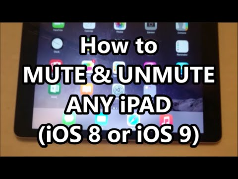 iPad Air 2 How to Mute and Unmute (Any iPad, Air, Mini, Pro iOS 9)