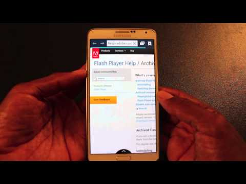 How To Get Adobe Flash Player On Samsung Galaxy Note 3