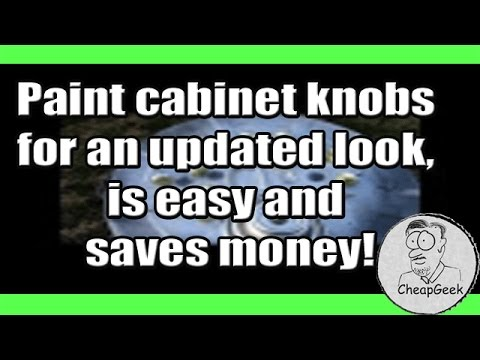 Paint cabinet knobs for an updated look, is easy and saves money!