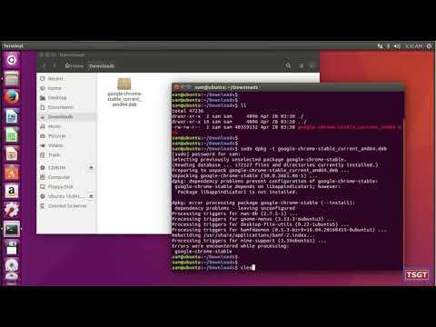 How to install Google Chrome in Ubuntu 16 04 LTS 2018