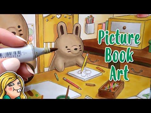 PICTURE BOOK ART - Artsy Bun Buns Copic Illustration