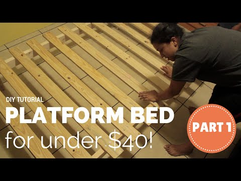 How To Build a Platform Bed for $40- Part 1 of 3
