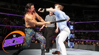 Gentleman Jack Gallagher vs. The Brian Kendrick - No DQ Match: WWE 205 Live, Aug. 29, 2017