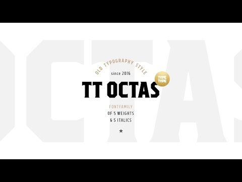 New font TT Octas — fontfamily with saturated and vintage character!