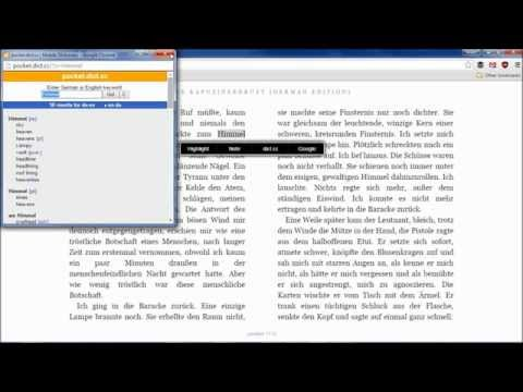 German-English Translation in Kindle Cloud Reader