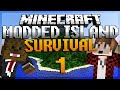 Minecraft Survival Island Mods Ep. 1
