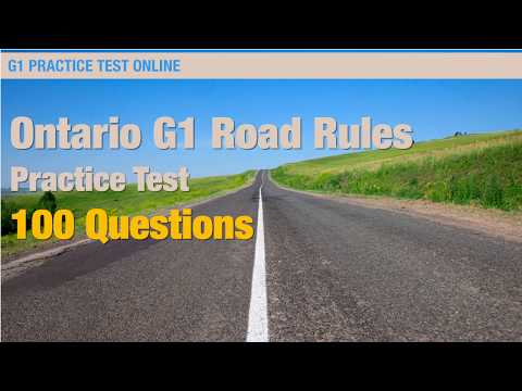 Ontario G1 Road Rules Practice Test (100 Questions)
