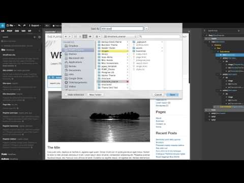 11 - Create a new WordPress template from the Index page