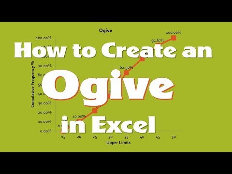 Ogive (Cumulative Frequency Graph) using Excel's Data Analysis