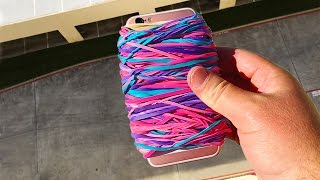 Can Rubber Band Case Save iPhone 6s from 100 FT Drop? - GizmoSlip