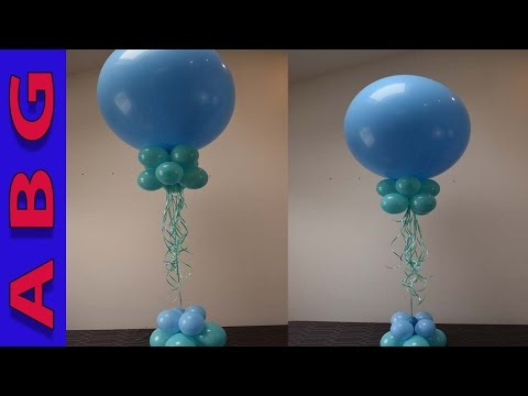 Balloon Decoration tutorial Easy DIY balloon Centerpiece using 3' Balloons
