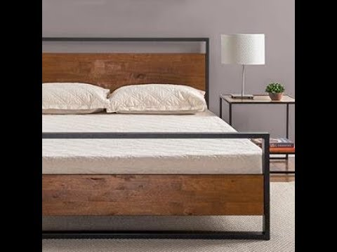 Unboxing & Assembly - ZINUS IRONLINE METAL & WOOD PLATFORM BED w/ Full Instruction Manual