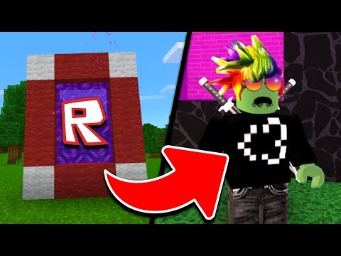 HOW TO MAKE A PORTAL TO THE ROBLOX DIMENSION - MINECRAFT