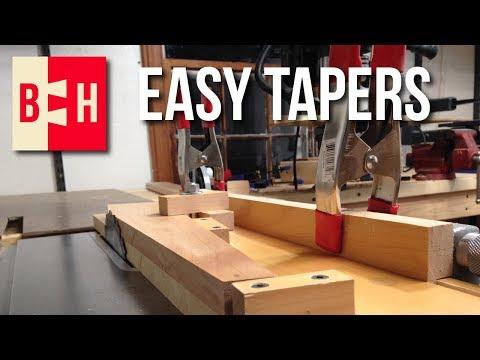 Simple Tablesaw Tapering Jig