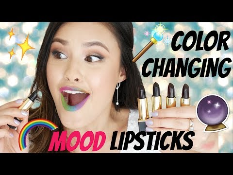 COLOR-CHANGING MOOD LIPSTICKS   The Black Lipstick That Transforms Before Your Eyes!